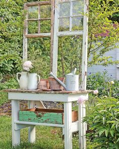 Vintage in my garden❤ #hagelivoguterom #gardeninspiration #vintagefurniture #vibekedesign