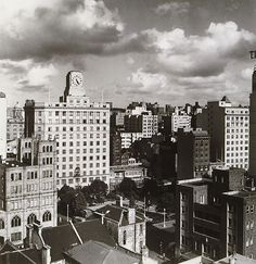 Olive Cotton - City view from 49 Clarence Street c 1942 ...
