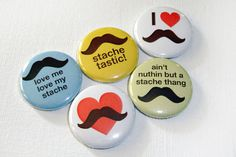 stache-tastic buttons