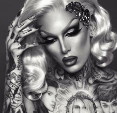 Flash Back Friday To Jeffree Star Painted By Miss Fame – Drag . Drag Makeup, Beauty Makeup, Hair Makeup, Hair Beauty, Bold And The Beautiful, Most Beautiful Man, Gorgeous Men, Jeffree Star, Makeup Inspo