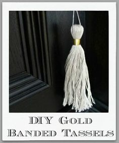 Easy, attractive furniture tassels from embroidery floss Driven By Decor, Diy Embroidery, Gold Bands, Fun Projects, Gallery, Tassels, Inspiration, Easy, Furniture