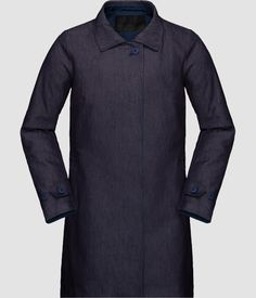 Norrøna oslo denim coat for women - Norrøna® Denim Cotton, Raw Denim, Oslo, Thighs, Shirt Dress, Coat, Mens Tops, Women, Fashion