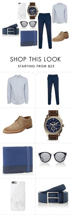 """Man"" by mirela-r13 on Polyvore featuring A.P.C., Paul Smith, Modern Fiction, FOSSIL, MANGO, Dior Homme, Native Union and Barneys New York"