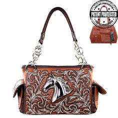 Montana West Brown Horse Purse, Concealed Carry