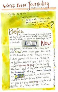 via Illustrated Watercolor Journaling blog    http://www.watercolorjournaling.com/