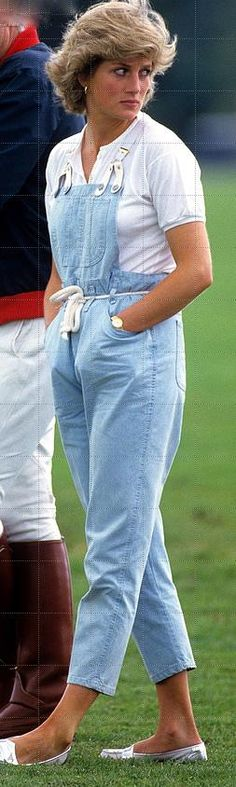 June 28 1987 Polo at Smith's Lawn, Windsor Salopette jeans