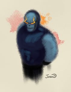 An abstract watercolor of Darksied.
