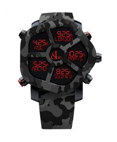 ジェイコブ ゴースト JC-GST-CAMOBK カモフラージュカラーブラック 腕時計 メンズ JACOB&CO GHOST デジタル 5time zone - IDEAL