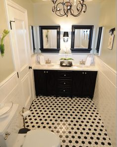 I have chosen black double vanity with white Carrara marble top
