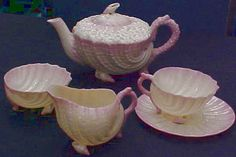 Belleek Shell Teapot Tattoos