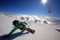 Snowkiting with world champ Guillaume Chastagnol. Find more at http://www.kite-trips.com/kitesurf-eco-adventures/snowkite-chasta-adventure/