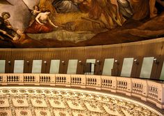 This is a view of the painting up in the very top of the Capitol dome where tourists don't get to go.