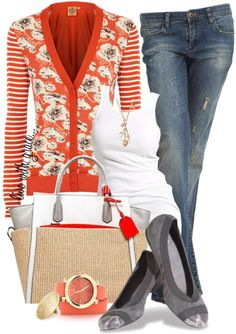 """""""jeans, tank & cardi"""" by livewithgrace ❤ liked on Polyvore"""