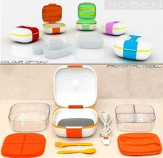 Mo:Ben Bento Box-- it is amazing; you can plug it in to heat up your food ( no microwave!)