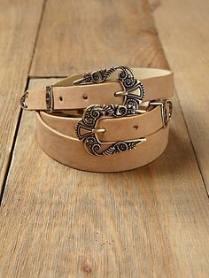 Free People Celtic Double Buckle Waist Belt at Free People Clothing Boutique - StyleSays