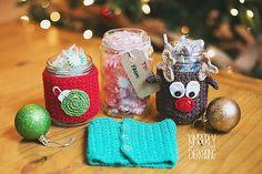 Mason Jar Christmas cozy crochet patterns by Sincerely, Pam