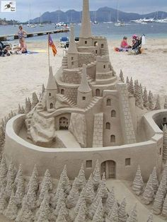 Awesome sand art #sandcastle #sandsculpture www.aaa.com/travel