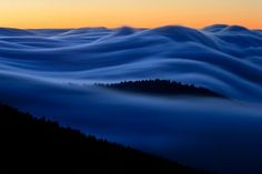 Fog in the Great Smokey Mountains, Tennessee: 30 Second Time Exposure - Pixdaus