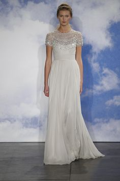 This silver beaded cape from Jenny Packham is simply spectacular {photo: Dan Lecca}