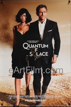 Happy Birthday #IanFleming https://eartfilm.com/search?q=%22james+bond%22 #writers #writing #authors #novels #novelists #JamesBond #spy #spies #espionage #posters #film #movies #cinema #movieposters #poster #movie     Quantum of Solace-2008-26x39-James Bond 007-Daniel Craig-Judi Dench