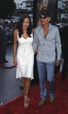 Angelina Jolie And Husband Billy Bob Thornton At The Original Sin Film Premiere, July 2001