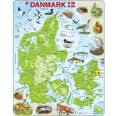 Larsen puslespil -Danmarkskort