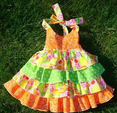 Ruffle Halter Dress » Ellie Inspired. This is a sew along as at 27/02/13. Not sure how long this will be available once sew along finishes.