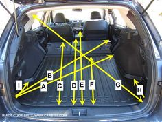 2015 Subaru Outback cargo dimensions and measurements. Photo #1