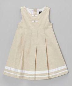 Loving this Natural Cindy Swing Dress - Toddler & Girls on #zulily! #zulilyfinds