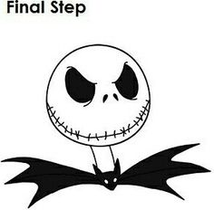 how to draw jack skellington step 11 | nightmare before