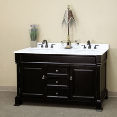 Find This Pin And More On Bathroom Striking Color Duo With This Small Double 60 Inch Double Sink Bathroom Vanity