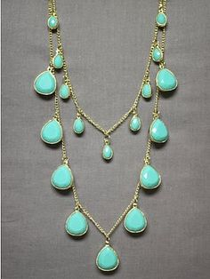 turquoise necklace with bridesmaid dresses.