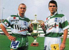 Simi és Lipcsei Peti Celtic Fc, Football, Club, Baseball Cards, History, Sports, Soccer, Hs Sports, Futbol
