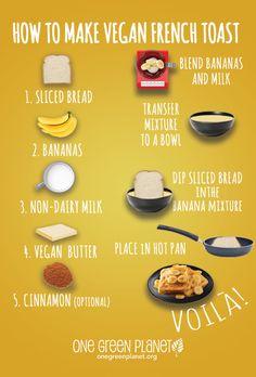 How to make vegan French toast #vegan