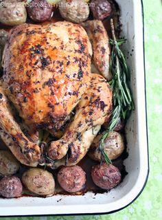 Lemon Rosemary Roasted Chicken and Potatoes