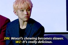 HAHAHA WOOZI WE ALL KNOW YOU CAN'T EAT SPICY FOOD XD