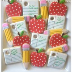 Back to School Cookies The Doughmestic Housewife