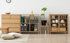 MUJI Wooden Shelves