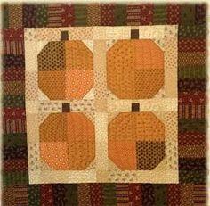 Simple pumpkin quilt