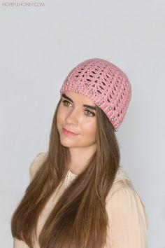 Hopeful Honey | Craft, Crochet, Create: Pearly Rose Hat - Crochet Pattern
