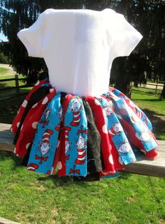 Dr. Seuss Fabric Tutu. $15.00, via Etsy.