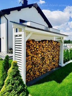 Outdoor Firewood Rack, Firewood Shed, Firewood Storage, Backyard Pavilion, Backyard Bar, Lake Landscaping, Rock Garden Design, Dream House Exterior, Wood Planters
