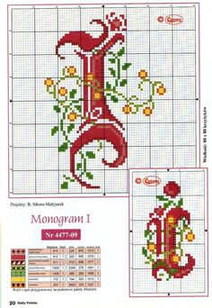 Gallery.ru / Фото #12 - Monogrammy - Vlada65 Cross Stitch Letters, Cross Stitch Samplers, Counted Cross Stitch Patterns, Cross Stitch Charts, Cross Stitch Embroidery, Embroidery Patterns, Plastic Canvas Letters, Alphabet Charts, Crochet Cross