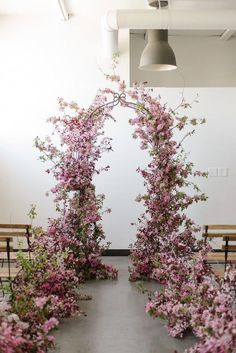 Workshops — SOIL AND STEM Natural Installations for wedding ceremony free-standing arch, purple flowers, wild, organic ceremony arch. Mauve Wedding, Wedding Flowers, Elegant Wedding, Wedding Arches, Simple Wedding Arch, Lounges, Flower Installation, Floral Wedding Decorations, Floral Arch