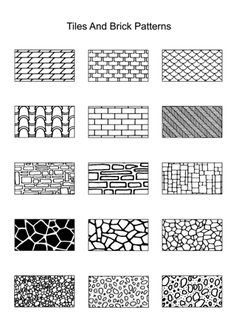 Download an A4 copy of tile and brick patterns