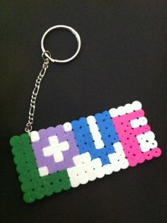 LOVE Keychain perler beads by AFamilyAFlair