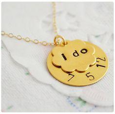 Brides 'I Do' Necklace - $25.99. http://www.bellechic.com/products/dda041376c/brides-i-do-necklace