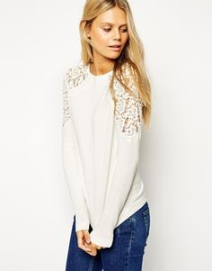 ASOS Jumper With Lace Inserts