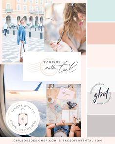Pastel Brand Inspiration For Elizebeth Ellery // Branding, Photography and Website Design Web Design, Website Design Layout, Blog Design, Graphic Design, Travel Logo, Color Inspiration, Brand Inspiration, Moodboard Inspiration, Photoshop