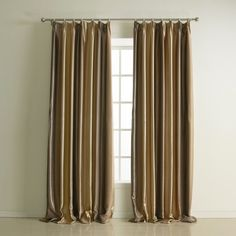 Classic Print Stripe Polyester Room Darkening Curtain  #curtains #decor #homedecor #homeinterior #brown